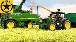 BRUDER JOHN DEERE TRACTORS for Children bworld FARM all machinery in! PART 8