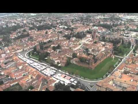 Castelfranco Veneto by helicopter - YouTube