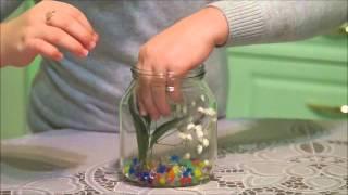 Консервирование цветов в глицерине(Данное видео сделано для конкурса исследовательских работ младших школьников