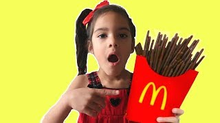 Sam Plays McDonald's Happy Meal Chocolate French Fries  /Johnny Johnny Yes papa NurseryRhymes