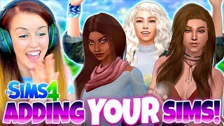 ADDING YOUR SIMS TO MY GAME! ???????? - Sims 4 CAS Challenge! / Видео