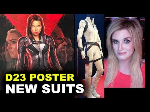 Black Widow D23 Poster Red Guardian White Costume Youtube