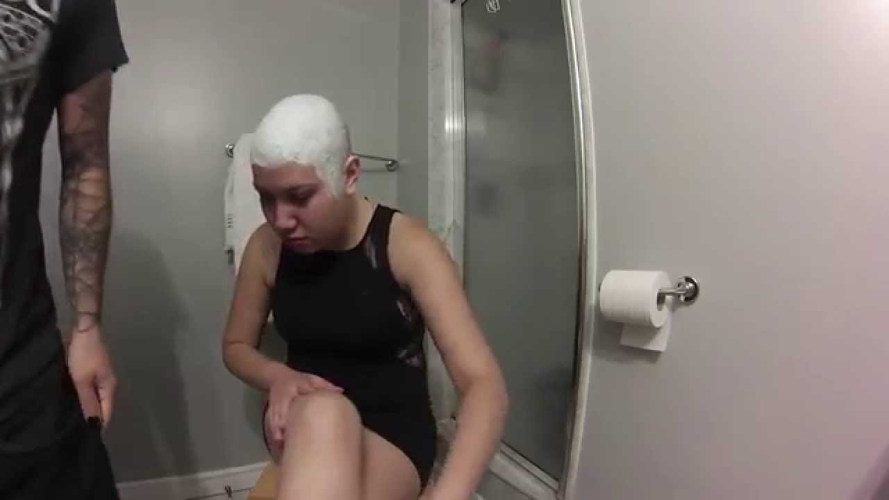 Women naked heads shave