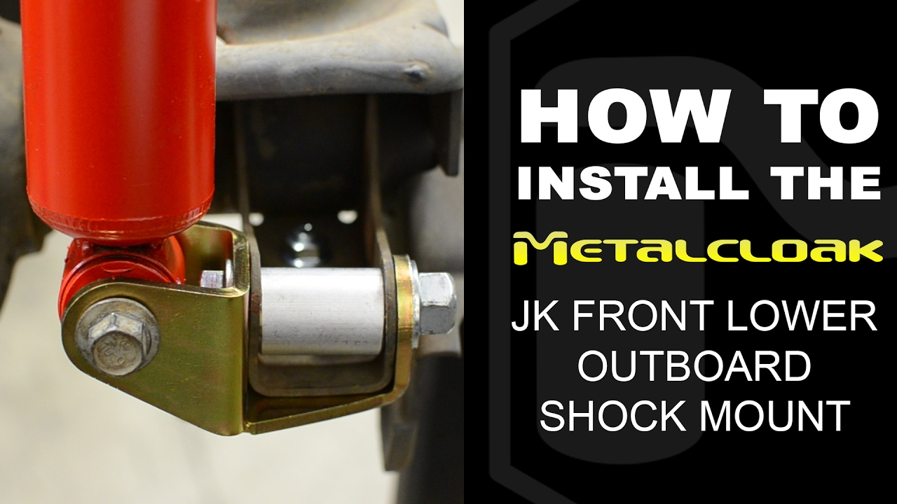 How To Install Jk Lower Front Outboard Shock Mount Spacer Youtube - How To Install A Front Door
