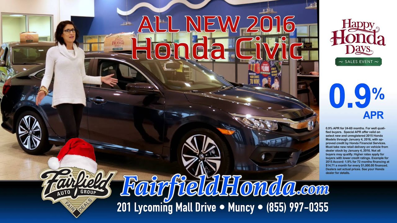 Happy Honda Days from Fairfield Honda in Muncy - YouTube