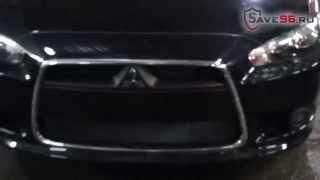 Сетка на решетку радиатора для Mitsubishi Lancer 10 (Митсубиси Лансер 10) 2012-2014 г.в.