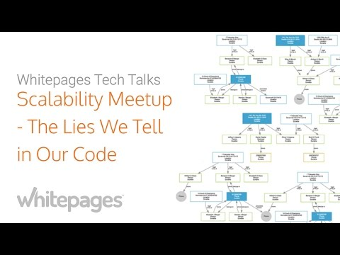 Scalability Meetup at Whitepages: The Lies We Tell Our Code