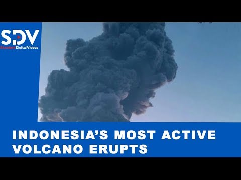 Indonesia's most active volcano erupts, spewing 6KM meter high ash column
