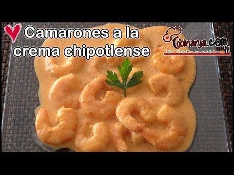 Camarones a la crema chipotlense
