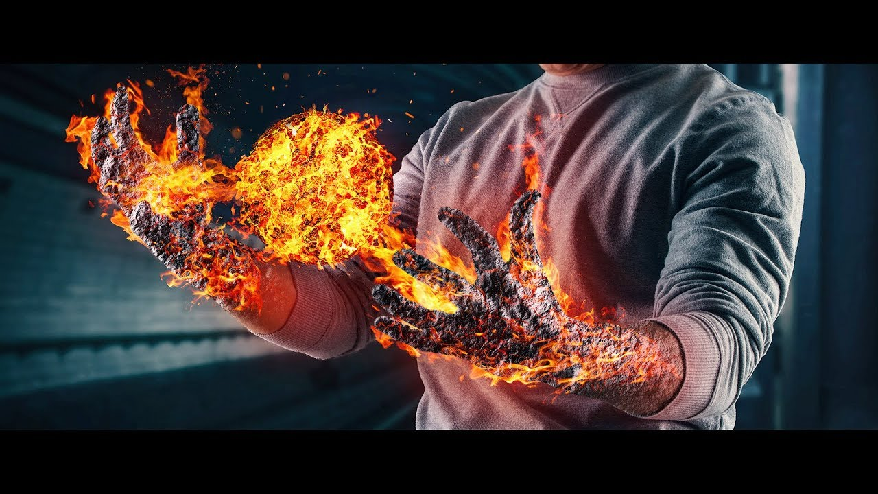 Fire effect in Photoshop - YouTube