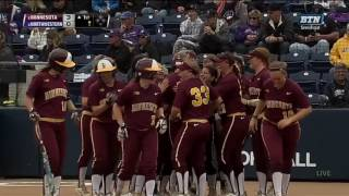 Sara Groenewegen Home Run for 3-0 Early Lead!