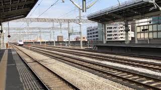 【上越新幹線 速度向上試運転】E2系J55編成 高崎駅通過 その2 下り1本目 E2系同士の通過待ち!J55編成とJ54編成