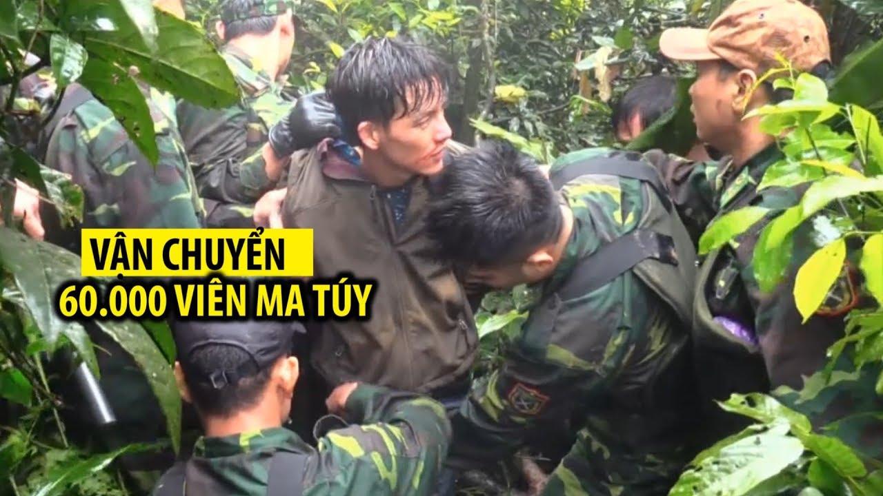 Khoảnh khắc biên phòng bắt nghi phạm người Lào vận chuyển ma túy trong rừng sâu