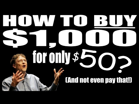 How To Buy $1000 for $50- And Not Even Pay That!