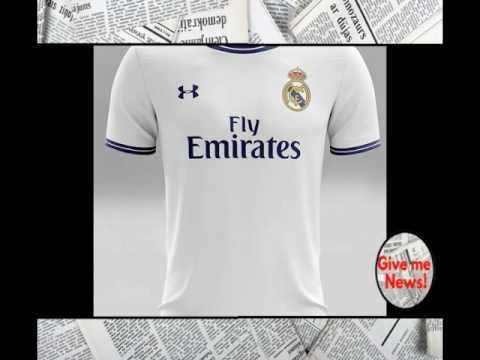 recoger saltar docena  Así serían los uniformes del Real Madrid con Under Armour! - YouTube