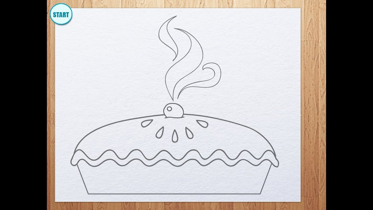 How To Draw A Pie Youtube
