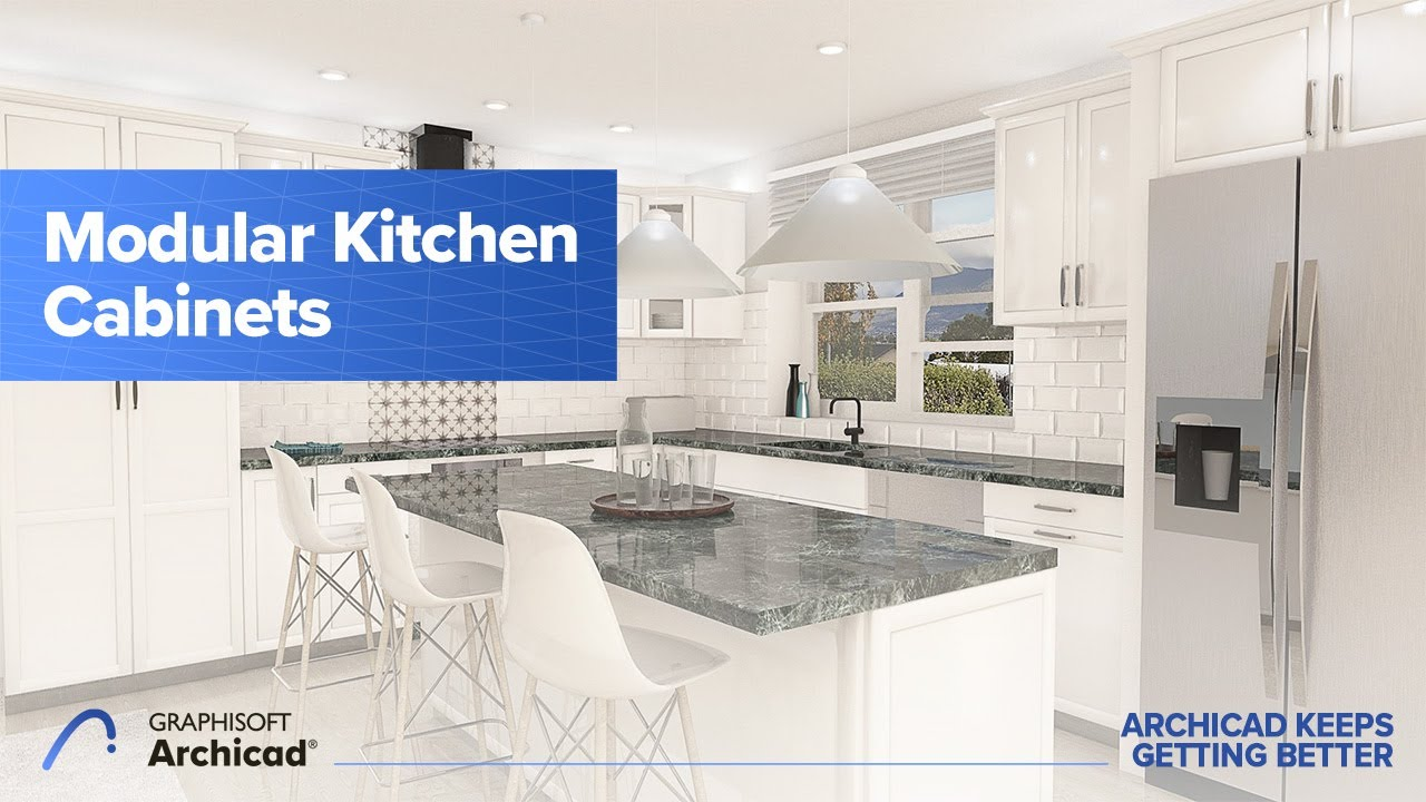 How to Design a Kitchen Quickly Using the Parametric, Modular Kitchen  Cabinets in Archicad
