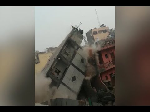 Delhi: WATCH how illegally constructed building was brought down by MCD