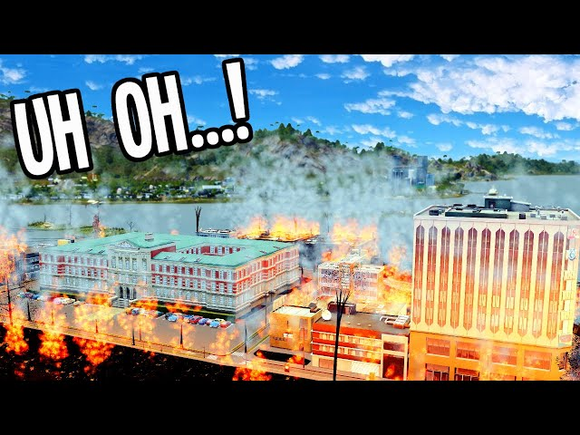 Fighting Fire, Making Money & Solving Education Problems in Cities Skylines!