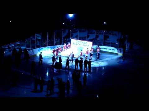 Chicago Blackhawks 2010 Stanley Cup Banner Raising