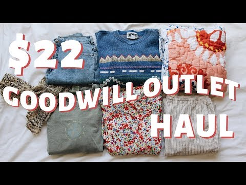 I GOT 17 THINGS FOR $22 | Goodwill Outlet Try-On Thrift Haul | Megan McSherry