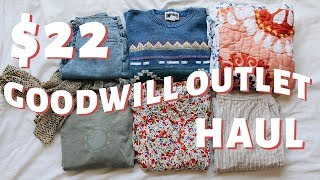 I GOT 17 THINGS FOR $22   Goodwill Outlet Try-On Thrift Haul