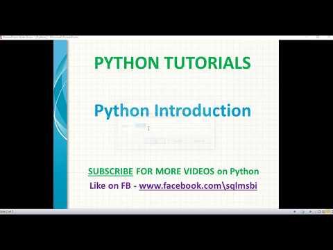 Introduction to Python   Python Tutorials thumbnail