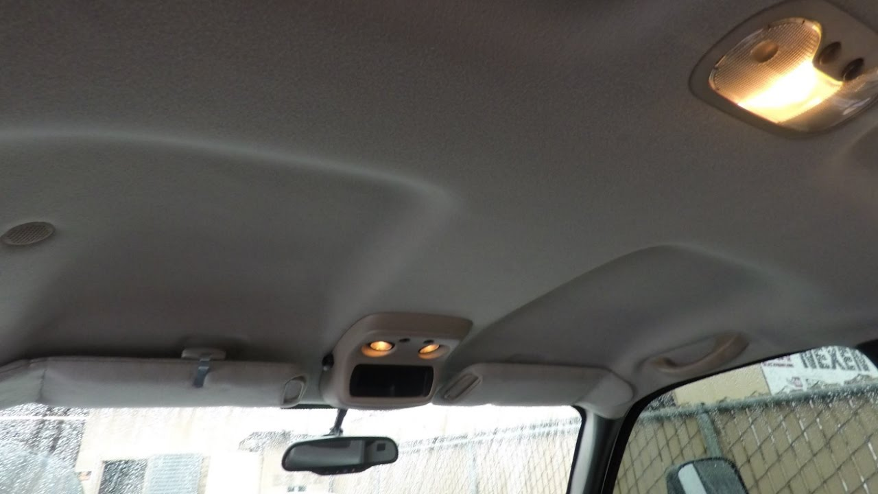 How to put fabric on your car ceiling Car interior ceiling fabric repair