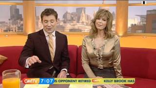 Kate Garraway - Gold Satin Blouse (GMTV)