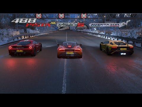 Lamborghini Aventador SV vs Ferrari 488 Pista vs McLaren 720s – Forza Horizon 4