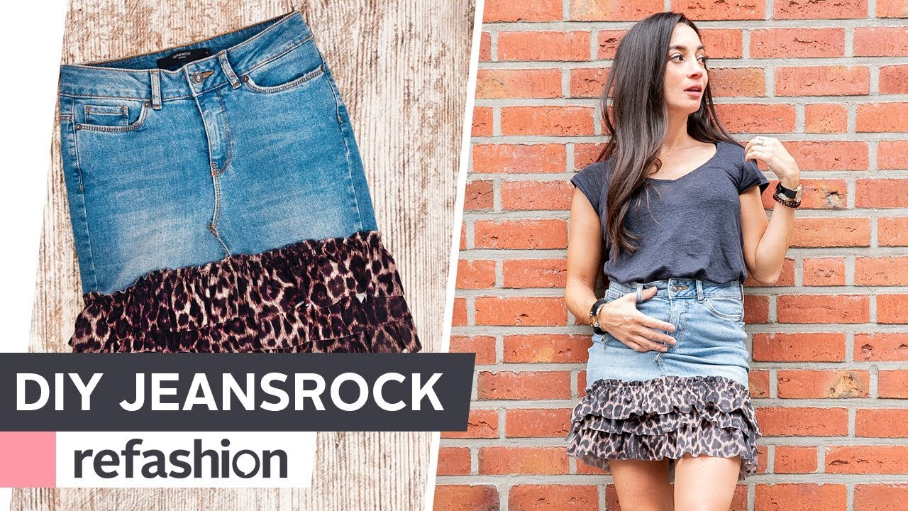 hot sale online 809a7 f20a2 UPCYCLING: Jeansrock aufpimpen ~ refashion | OTTO