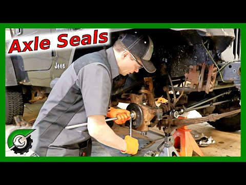 Easy DIY Axle Seal Replacement: Jeep Wrangler Dana 30 axle seal leak