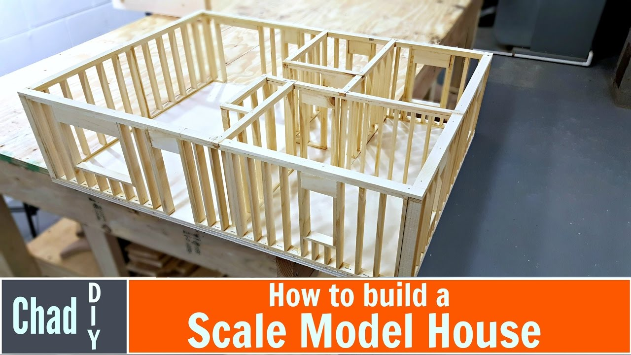 Diy Scale Model House Build Youtube