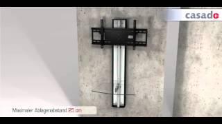 Casado Oviedo Wall Mounted Tv Stand - With Swivel & Tilt Mount & Floating Shelves