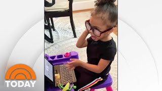 This Toddler Is Working From Her Home Office Just Like Her Mom | TODAY