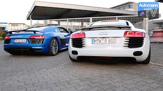 Audi R8 V8 vs. V10 PLUS - pure SOUND (60FPS)