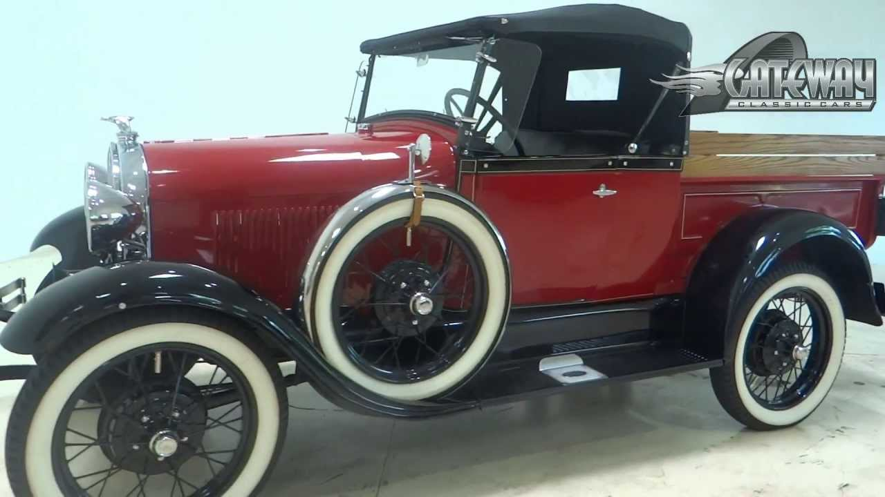 1929 Ford Model A Pickup Roadster Youtube