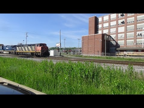CN 2410 & BCOL 4645 Leads A CN Freight Train WB
