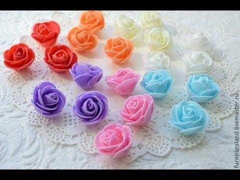 Как сделать розу из фоамирана мастер класс для начинающих