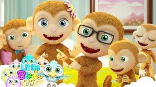 Five Little Monkeys    Funny Nursery Rhymes & Songs For kids