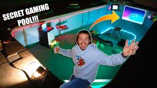 I Built a SECRET Game Room In My POOL!!!