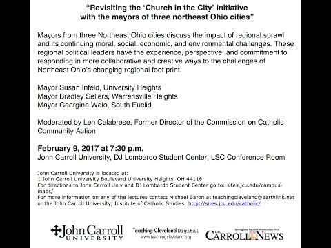 """""Revisiting the 'Church in the City"" forum Feb. 9, 2017"