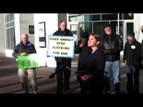 Protest at Duke Energy Center, Charlotte