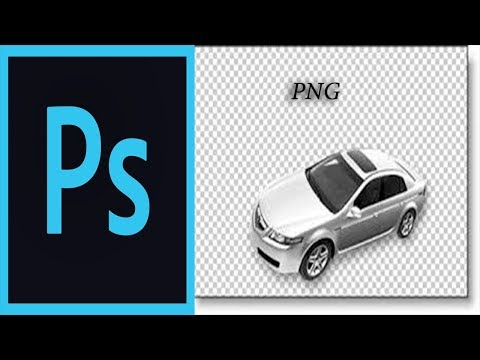 How To Save Transparent Background  PNG In Photoshop CC 2017