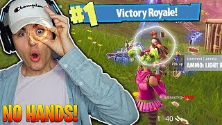 USING EYE TRACKER TO WIN FORTNITE! Playing Fortnite Using ONLY MY EYES...