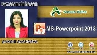 PowerPoint Tutorial in Hindi - CREATE PRESENTATION WITH TEMPLATES Lecture 2