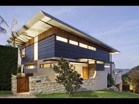 Contemporary Home Design With An Amazing Simple Skillion Roof That Mirrors The Slope Of The Land Youtube