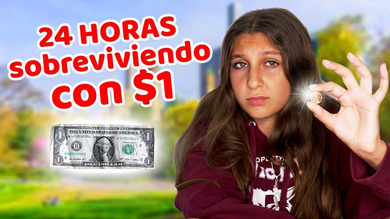 24 horas SOBREVIVIENDO con $1 - Mimi Land