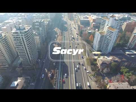 Video Sacyr Chile. Vista aérea nuevo Túnel Kennedy en Santiago, Chile