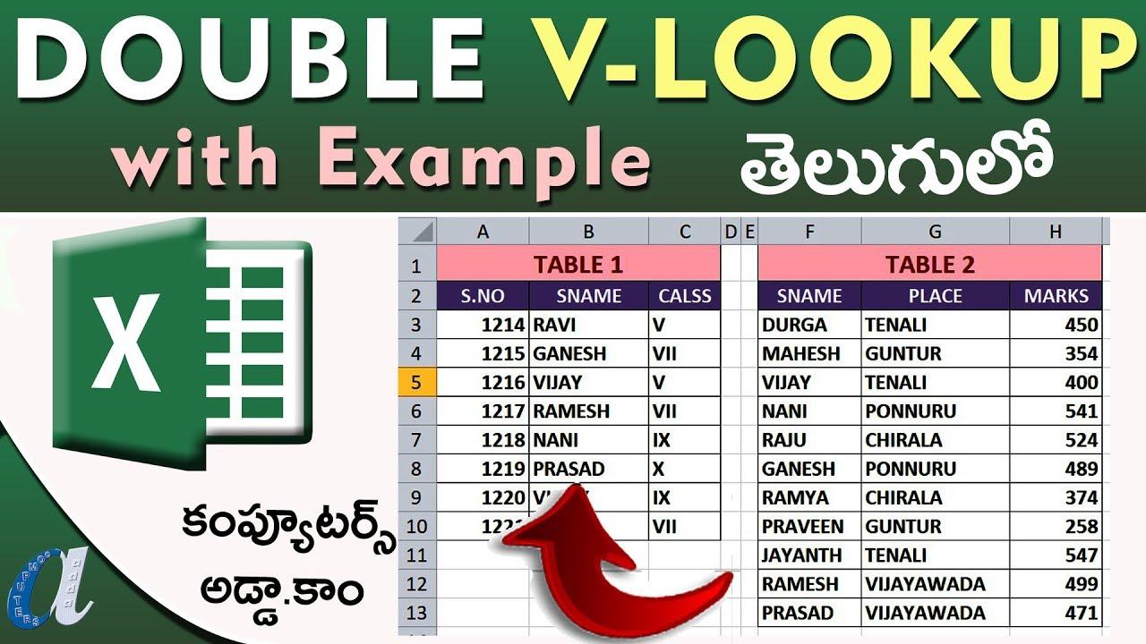 Microsoft Excel   VLookup Function   20+ Video Tutorials in Telugu ...